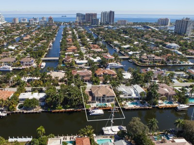 100 Feet Of Deep Water Front - Las Olas Isles