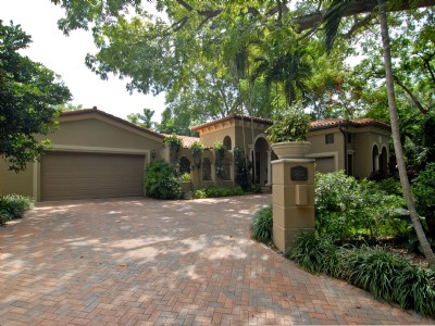 Private, gated Poinciana  Av  Coconut Grove